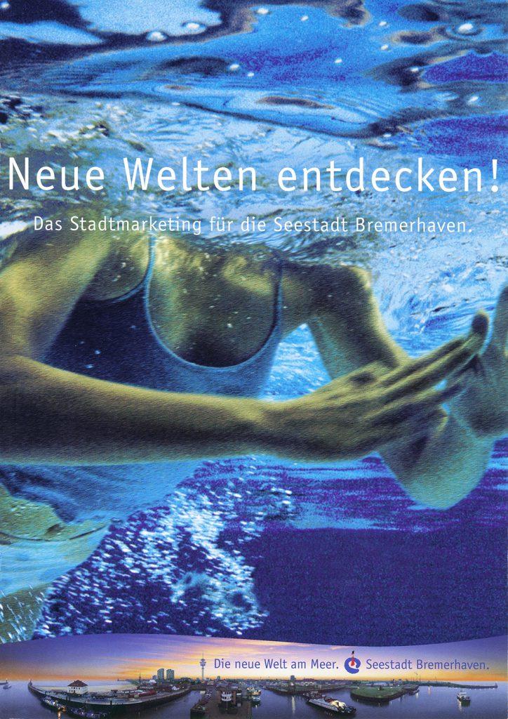 Werbeplakat der Seestadt Bremerhaven von 1998 © Historisches Museum Bremerhaven